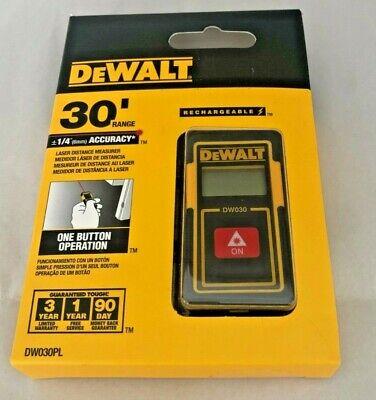 Nib Dewalt Dw030pl Laser Distance Measurer 30 Ft Range -18 In Lcd...