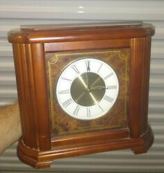 Seiko Wooden Westminster Whittington Quartz Mantel Clock Battery Operated