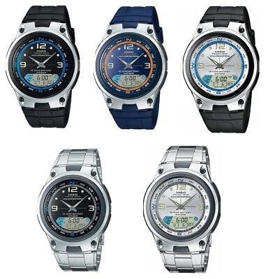 Gear Chronograph Watch - Casio AW82 AW82D  Men's Fishing Gear Analog Digital Alarm Chronograph Watch