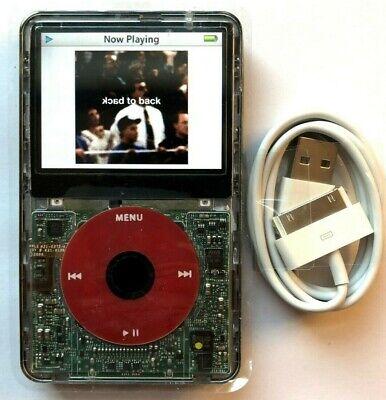160 Gb Ipod Video - 256GB iPod Classic Video 5th 5.5 Enhanced SD Card U2 Red Black Clear SSD 160GB