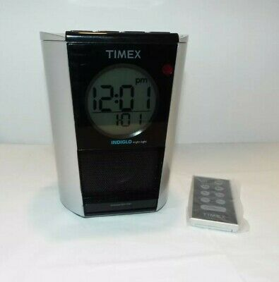 Timex Alarm Clock Radio With Ipod Dock With Remote Ti700S Indigo Night Light MP3