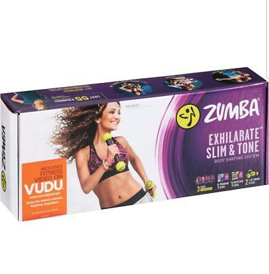 *NEW* ZUMBA  Body Shaping System 3 DVD's & more  BONUS  VUDU video