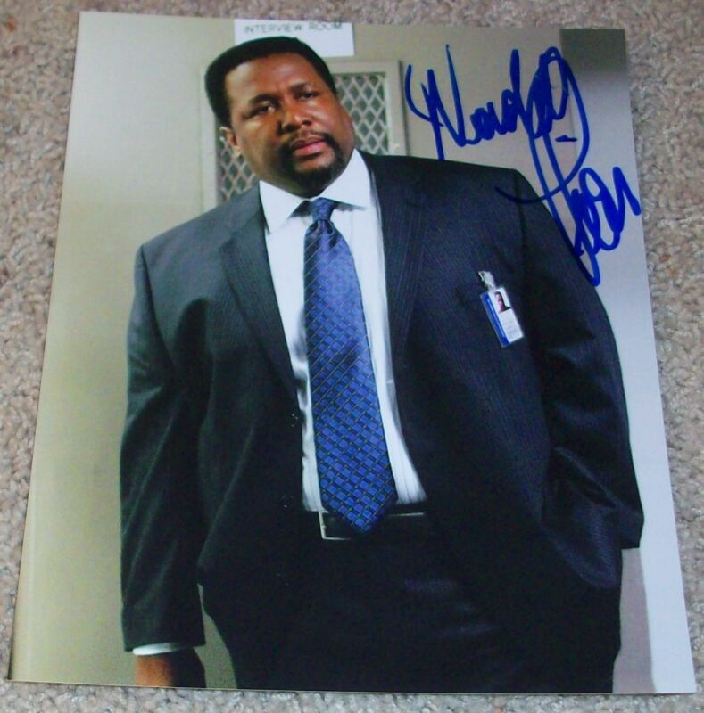 WENDELL PIERCE SIGNED AUTOGRAPH BUNK THE WIRE 8x10 PHOTO D w/PROOF