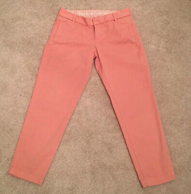J Crew Size 0 City Fit Broken In Chino Cropped Pants Rose Pink