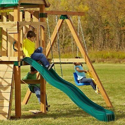 Cool Wave Slide Kids Backyard Playset 80 in Garden Playgroun