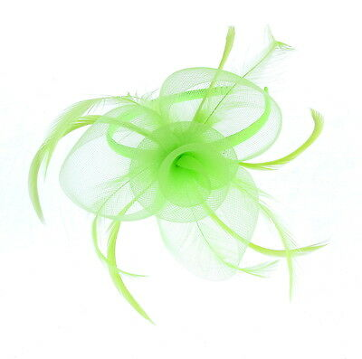 Verde Claro Tocado Remolino Diadema Para Ascot, Carreras, Bodas, Mujer
