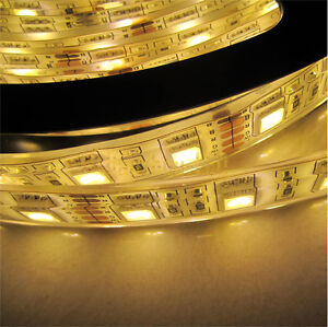 Ip68 Waterrpoof 5m 5050 Warm White 300 Led High Strip Light For Swimming Pool Ebay