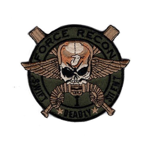 Marine Force Recon USMC Military Marine Swift Deadly-Silent Hook Patch (FR5)