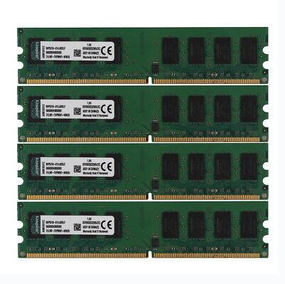Kingston 8GB 4X 2GB PC2 6400U 2RX8 DDR2 800MHz Memory RAM DIMM Desktop 240pin
