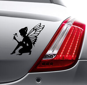 FLOWER ANGEL STICKER Car Bumper Van Window Laptop JDM VINYL DECALS STICKERS