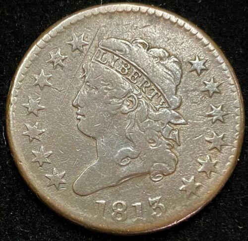 1813 Classic Head Large Cent.