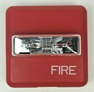 New Siemens Zr-mc-cr Fire Alarm Strobe Multi Candela Indoor Wall Mount Red