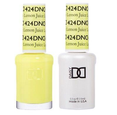 DND Daisy Duo Gel W/matching nail polish lacquer - Lemon Juice 424
