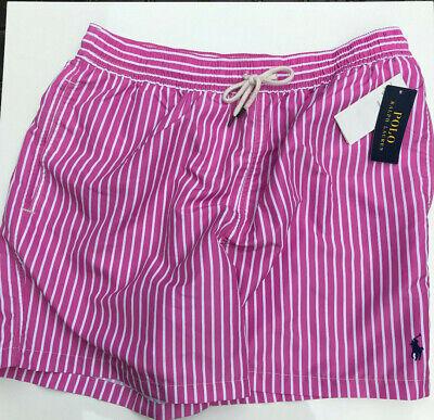 Polo Ralph Lauren Badeshorts Badehose pink weiß gestreift Gr. XL