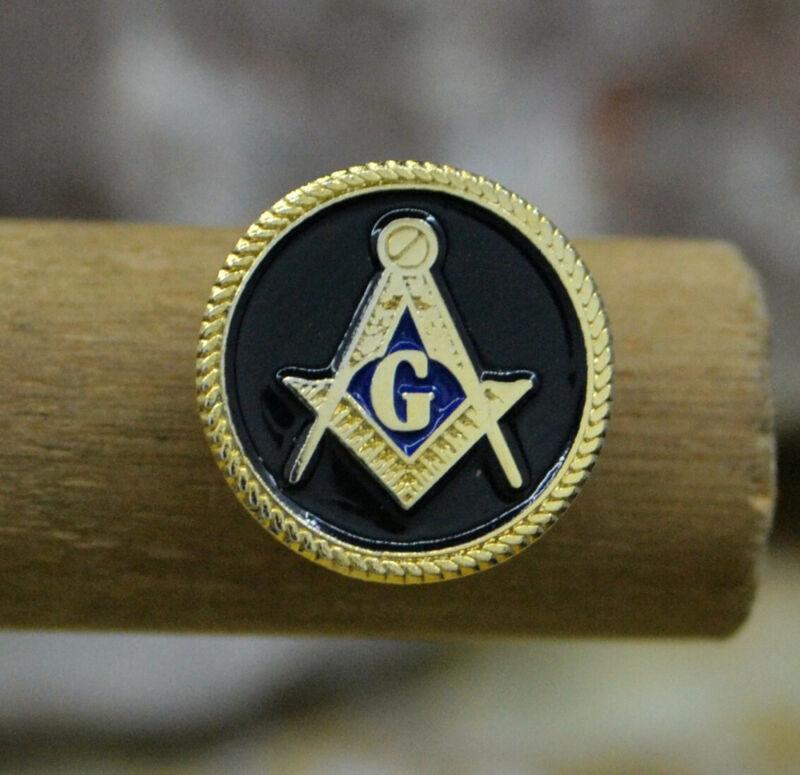 Masonic Lapel Pins Badge Mason Freemason B55 Black Round