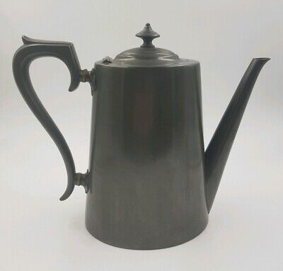 Antique James Dixon Pewter Coffeepot   Sheffield   8.5