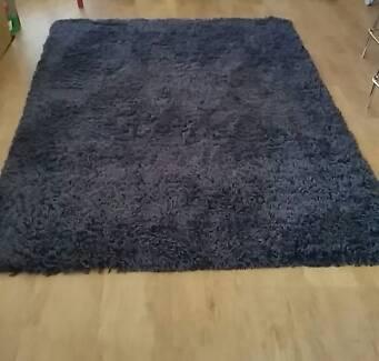Charcoal grey shaggy rug mat shag East Maitland Maitland Area Preview