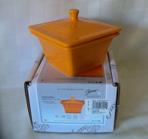 2020 BUTTERSCOTCH Belk Store Exclusive Fiesta Square Covered Box, Candy Dish