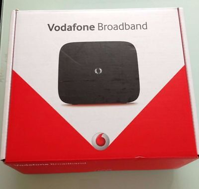 Black Vodafone HHG2500 Connect Wi-fi Broadband Router Mobile App Controlled