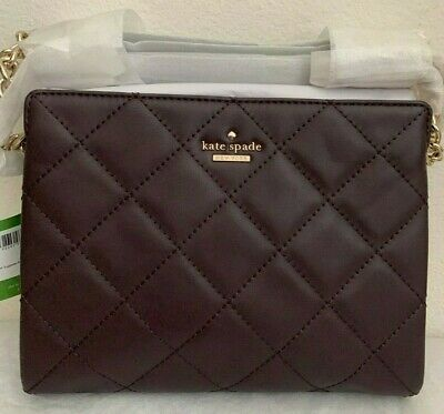 NWT KATE SPADE Emerson Place Mini Phoebe Leather Shoulder Bag $328 Dark Mahogany