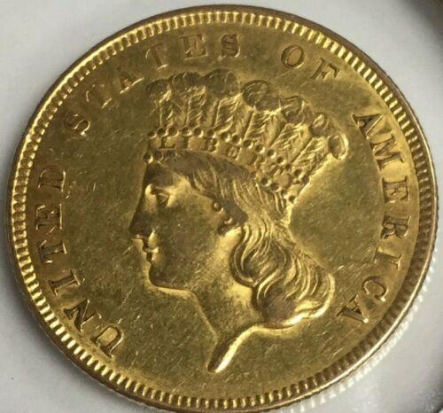 1855-P $3 DOLLAR GOLD COIN