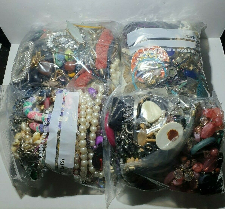 Jewellery - 1KG Job Lot costume broken,beads jewellery mixed bundle upcycle resell,craft.