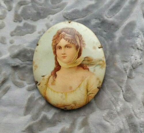 Antique Victorian Brooch Pin from an Estate Cameo Brooch Pin Antique Jewelry