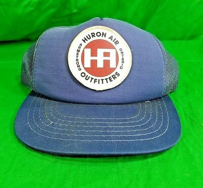 Vtg Huron Air Hat AC Armstrong Ontario Trucker Patched Snapback Cap for sale  Shipping to India