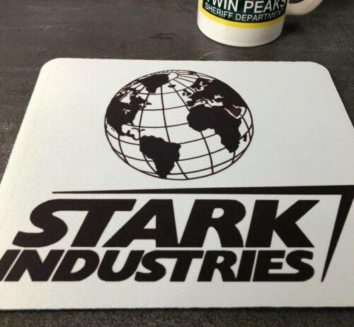Iron Man Tony Stark Industries Logo Globe Movie Computer Desk PC Mouse Mat Pad