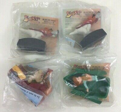 Oliver and Company Disney Burger King Toys 4pc Lot Dodger Fagin Jenny Vintage  - Toys And Company