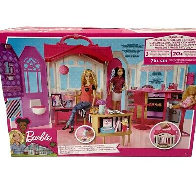 Barbie Glam Getaway Dream House Toy Furniture 20+ Accessories Foldable NEW