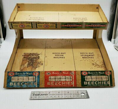 Vintage1930s metal Beech-Nut Chewing Gum Display Rack Countertop display