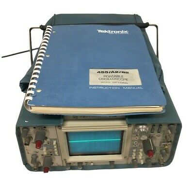 Tektronix 455 Oscilloscope Multi Meter Comes W Probe Power Cable Manual