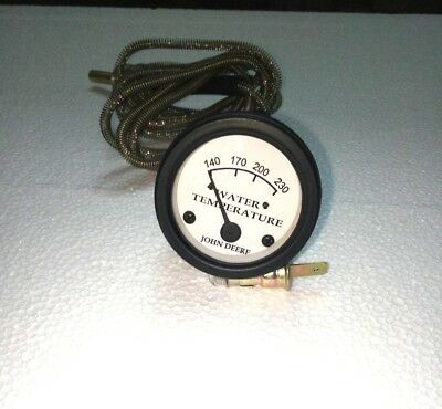 Tractor Temperature Gauge Set Replacement For John Deere-white