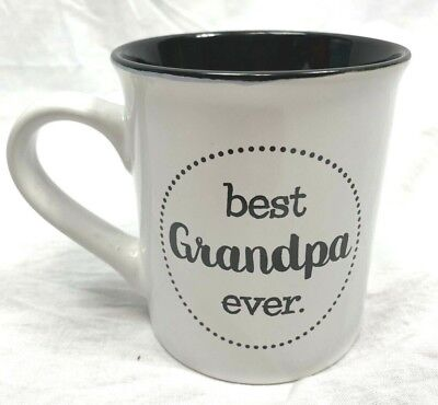 Love Your Mug coffee cup white and black best grandpa ever decorative