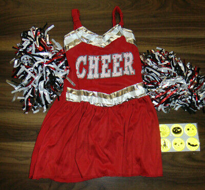 Kids Zombie Cheerleader Costume 7 (Zombie Cheerleader Girls Fancy Dress Dead Squad Uniform Kids Age 7-8)