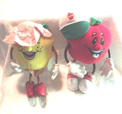 VINTAGE ADVERTISING PLUSH CHARACTER COLLECTIBLES WASHINGTON APPLES (2)