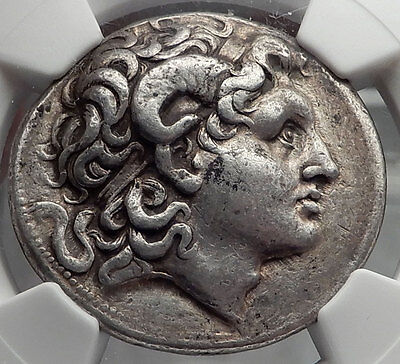LYSIMACHOS Silver Tetradrachm Ancient Greek Coin ALEXANDER the GREAT NGC i59774