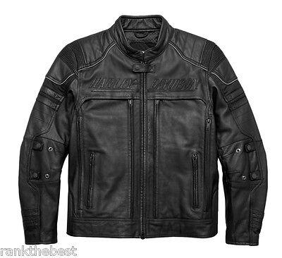 Harley Davidson Men Erving PocketSystem Reflective Leather Jacket 97139-17VM 3XL for sale  Shipping to India