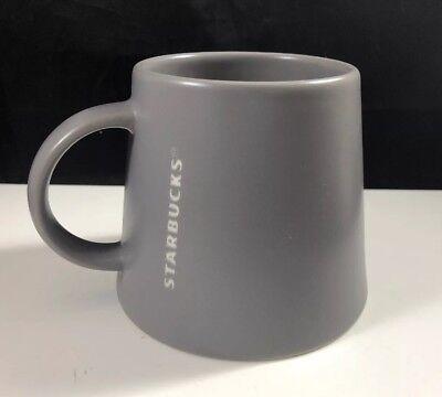 Medium Gray Slate - 2013 Starbucks Medium Gray/Slate Tapered/ Wide Base Embossed Mug 16 oz.