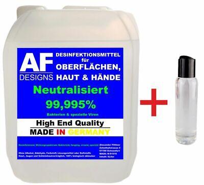 5 Liter Desinfektionsmittel Hände Flächen Haut Oberflächendesinfektion Germany
