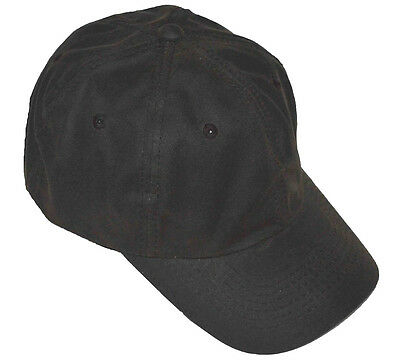 Polo Style Adjustable Low-profile Baseball Cap Oil Cloth Water Repellent-brown Cloth Low Profile Cap