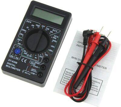Mini Pocket Digital Multimeter 1999 Counts Acdc Volt Amp Ohm Diode Hfe Tester