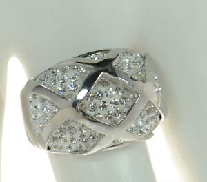 Steel by Design Crystal Dome Ring SZ- 8
