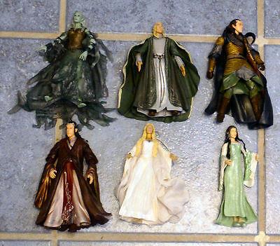 lot of 6 loose LOTR elven action figures Elrond, Galadriel, Celeborn, Arwen +