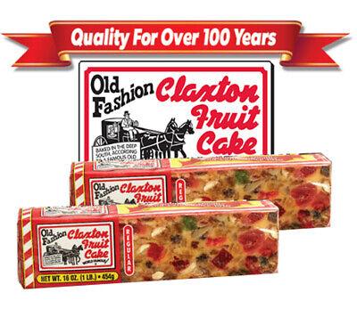 NEW 2020 FRUIT CAKE Boxed 2 lb Regular Recipe Claxton Fruitcake 2 Lb