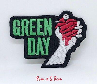 Punk Heavy Metal Música Verde Día Bordado Plancha Parche para Coser #1198