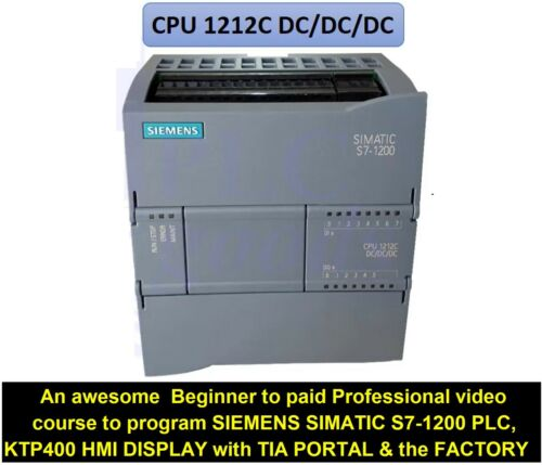 Programming SIMATIC S7-1200 PLC & KTP400 HMI display with Siemens TIA  PORTAL