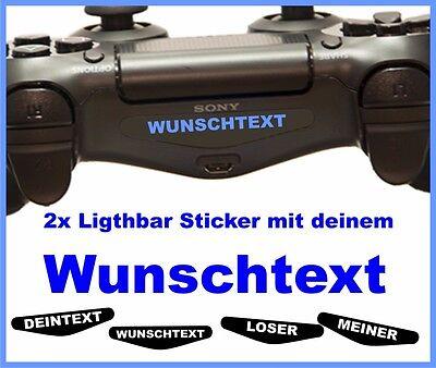 2 Stück  PS4 Pro Lightbar Sticker - WUNSCHTEXT - NAME - Skin Playstation 4