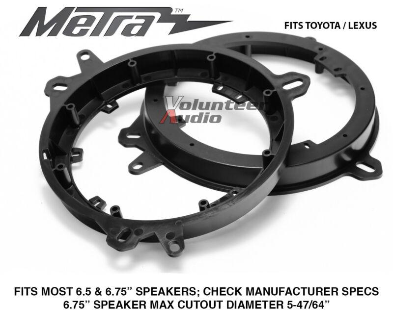 "Metra 82-8148 6"" To 6.75 Front Speaker Adapters for Lexus & Toyota Models"